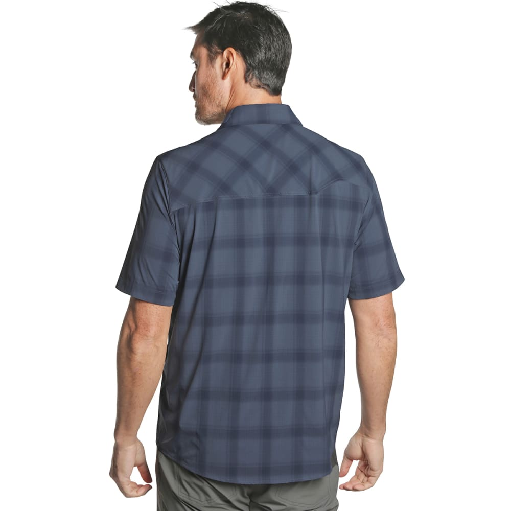 OUTDOOR RESEARCH Men's Astroman Short-Sleeve Sun Shirt - 1421 STEEL BLUE