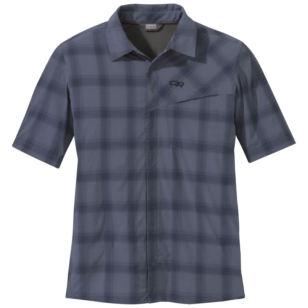 OUTDOOR RESEARCH Men's Astroman Short-Sleeve Sun Shirt - 1421 STEEL BLUE
