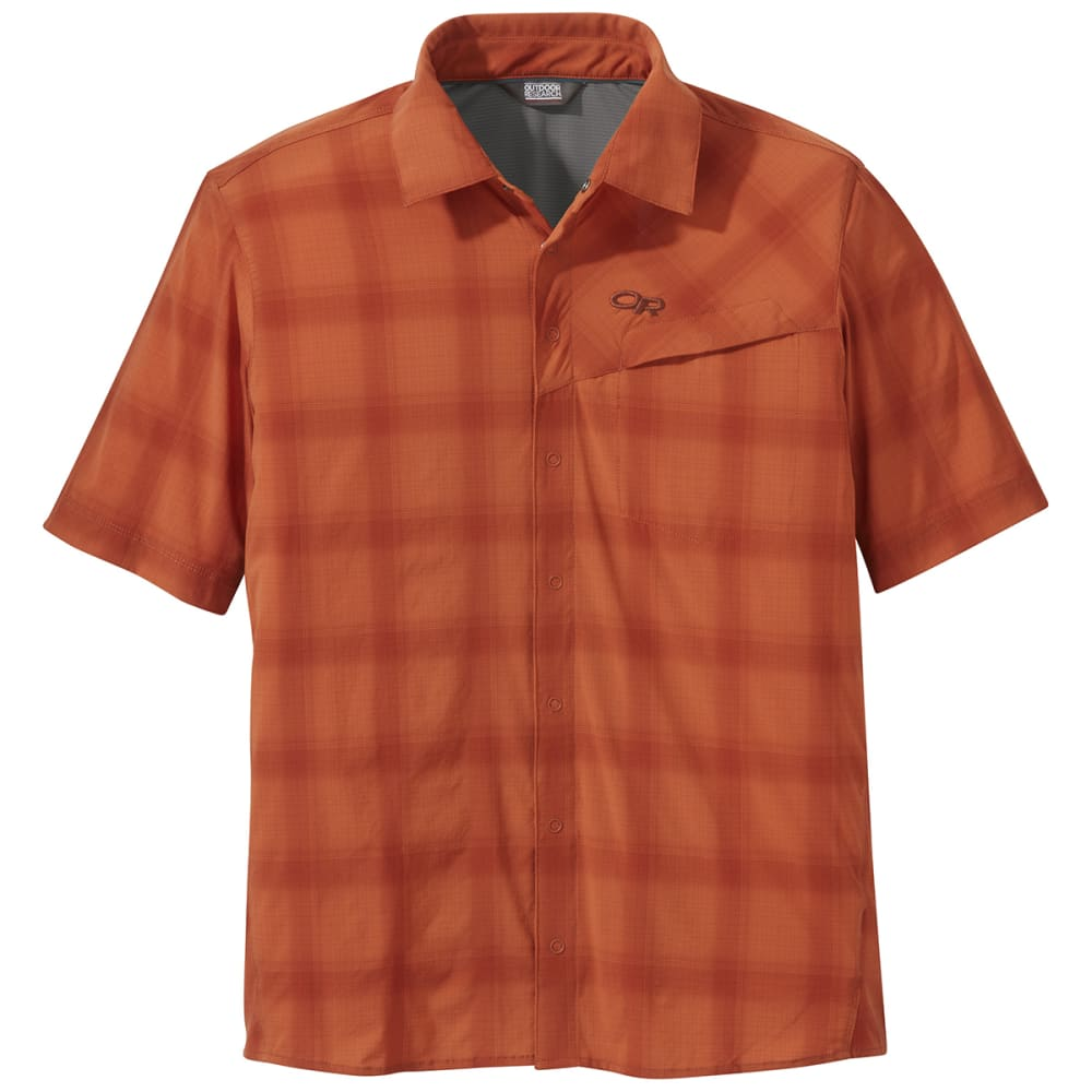 OUTDOOR RESEARCH Men's Astroman Short-Sleeve Sun Shirt - 0551 BURNT ORANGE