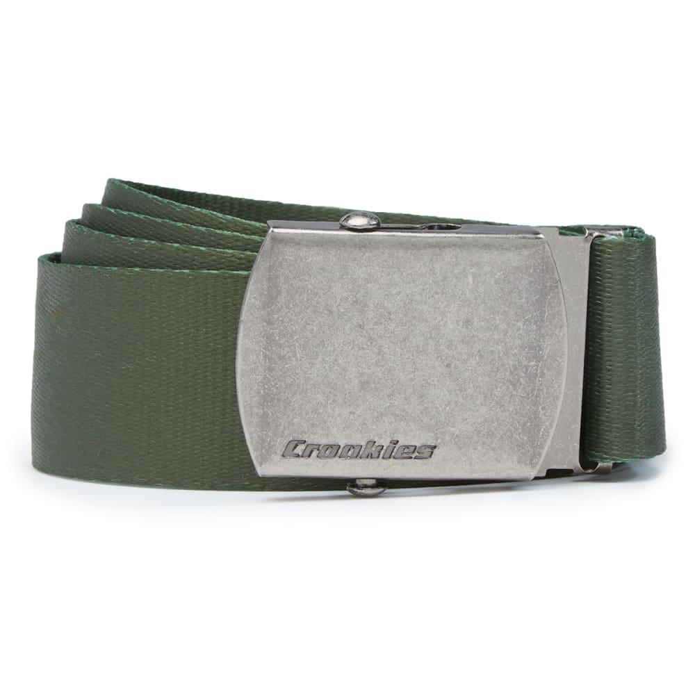 CROAKIES Men's Artisan 2 Military Buckle Belt - OLIVE