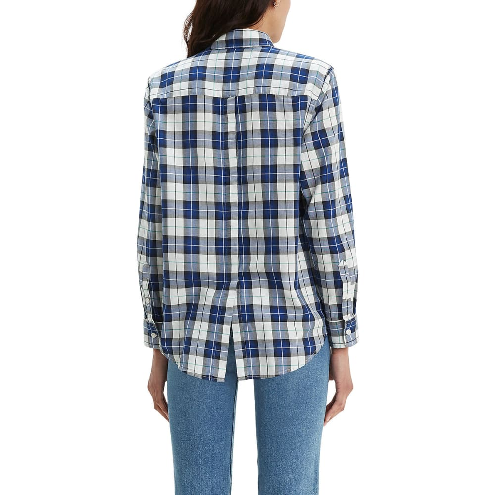 LEVI'S Women's Ultimate Boyfriend Button Back Long-Sleeve Shirt - SODALITE BLUE-0003