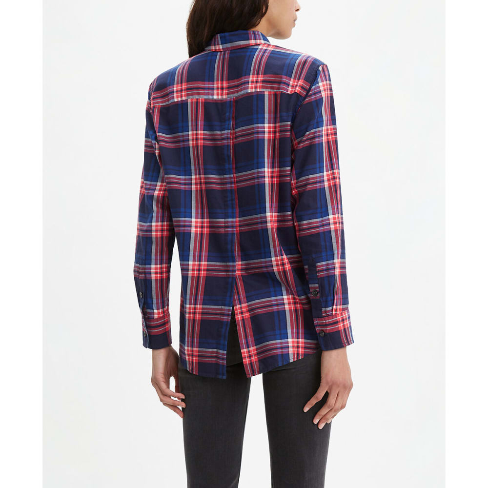 LEVI'S Women's Ultimate Boyfriend Button Back Long-Sleeve Shirt - SEA CAPTAN BLUE-0004