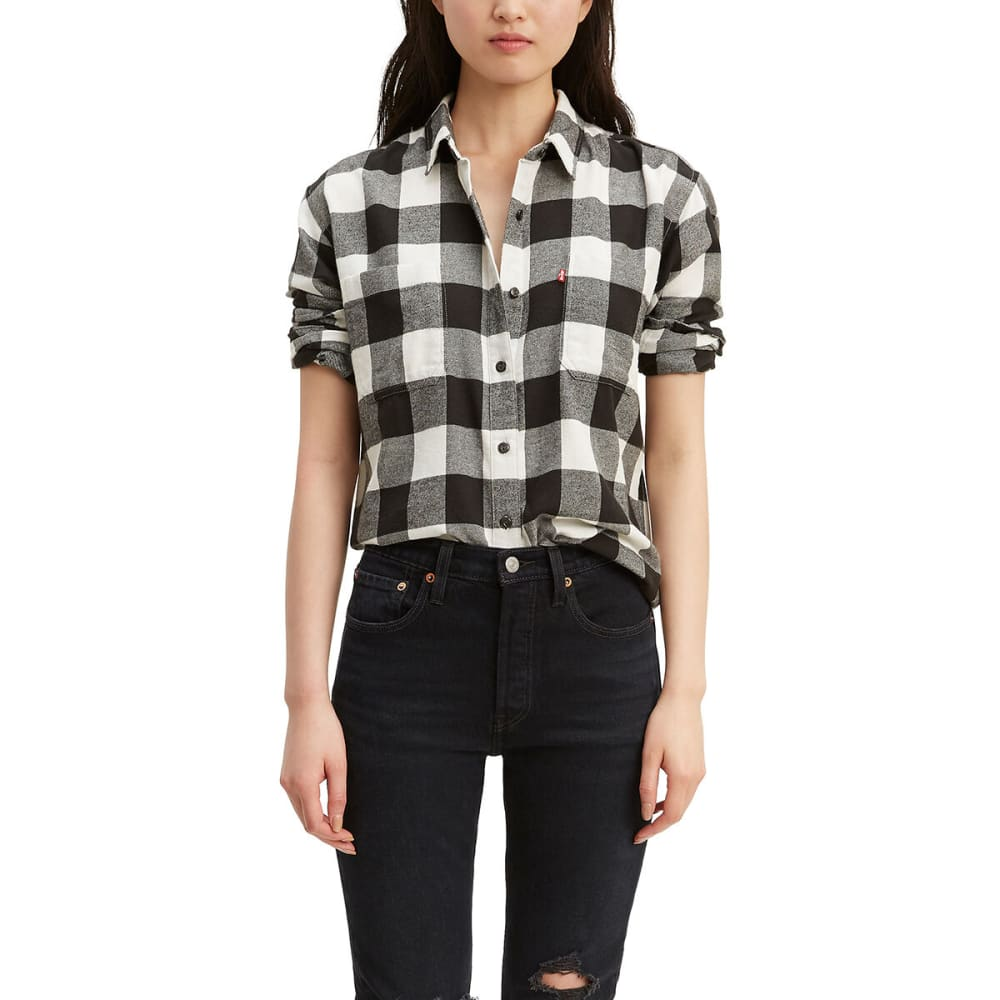 LEVI'S Women's Long-Sleeve Utility Shirt - CLOUD DANCER-0001