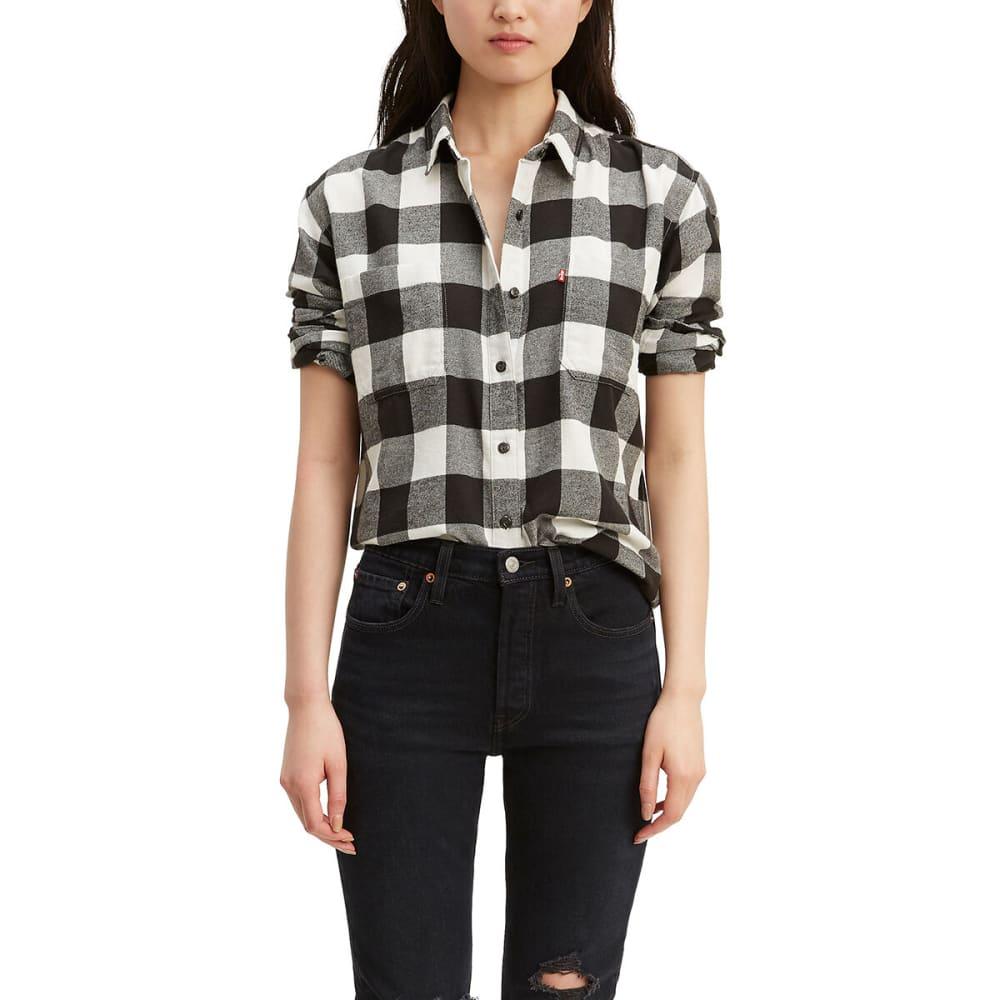LEVI'S Women's Long-Sleeve Utility Shirt - CLOUD DANCER-0001