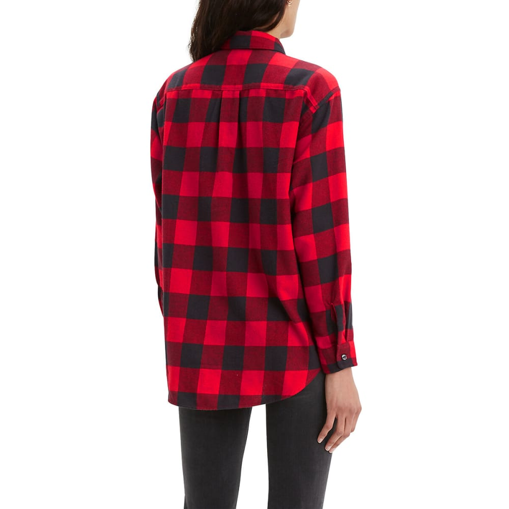 LEVI'S Women's Long-Sleeve Utility Shirt - BRILLIANT RED-0003