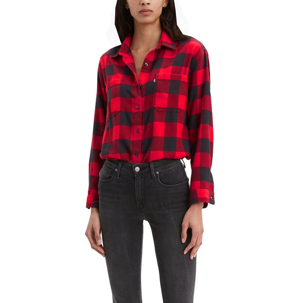 LEVI'S Women's Long-Sleeve Utility Shirt - BRILLIANT RED-0003