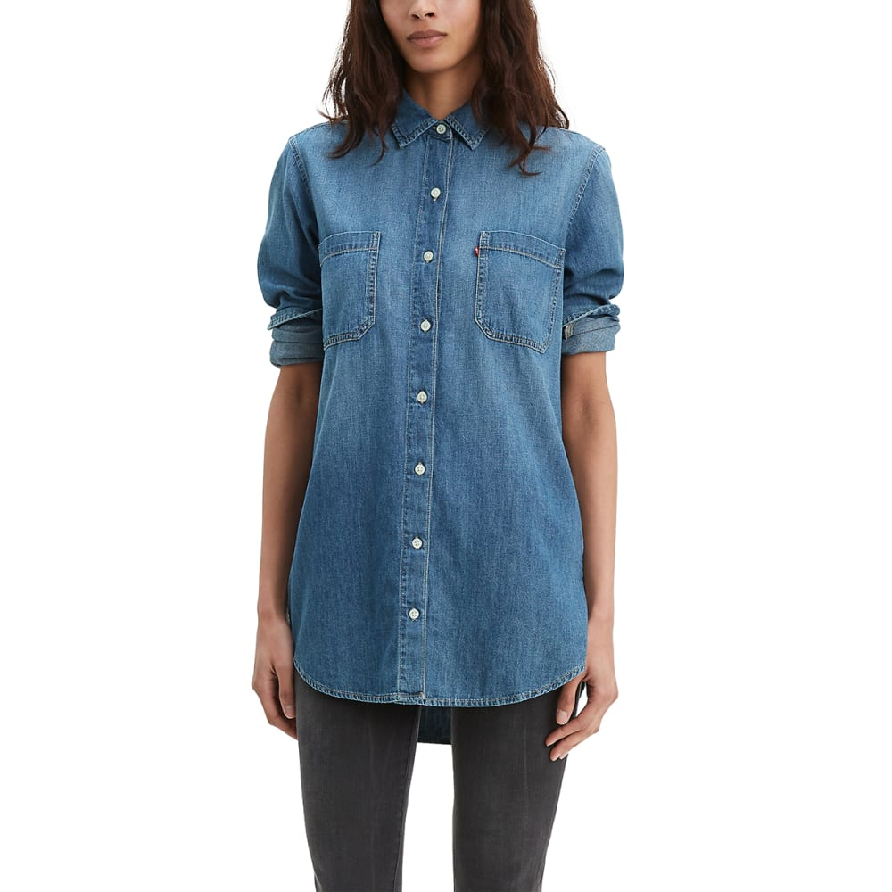 LEVI'S Women's Leni Long-Sleeve Tunic - ELECTRIC FEEL-0002