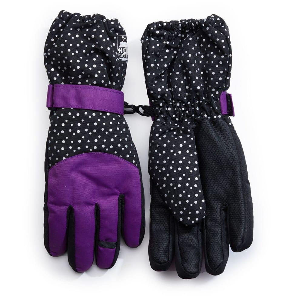 NOLAN Girls' Purple and Black Insulate Gloves - BLACK/PURPLE