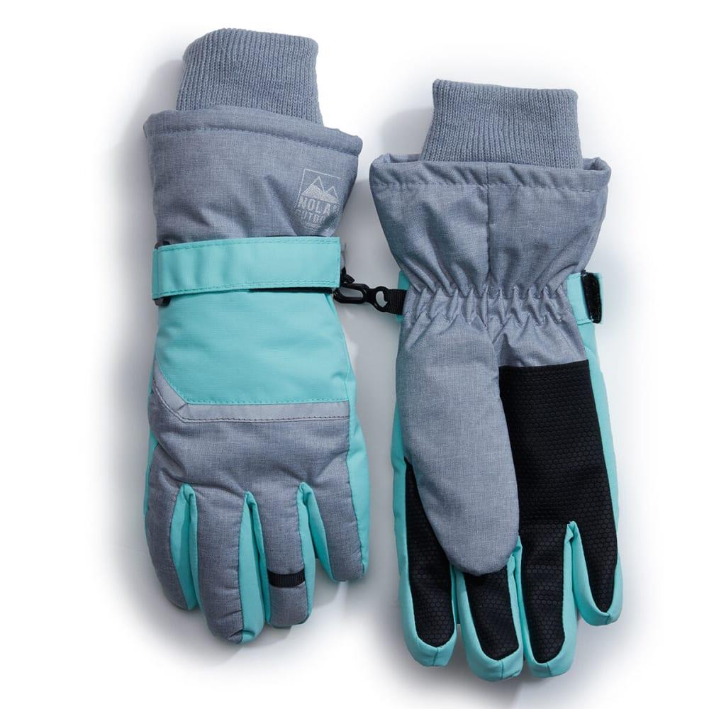 NOLAN Girls' Color-Blocked Ski Gloves - GREY