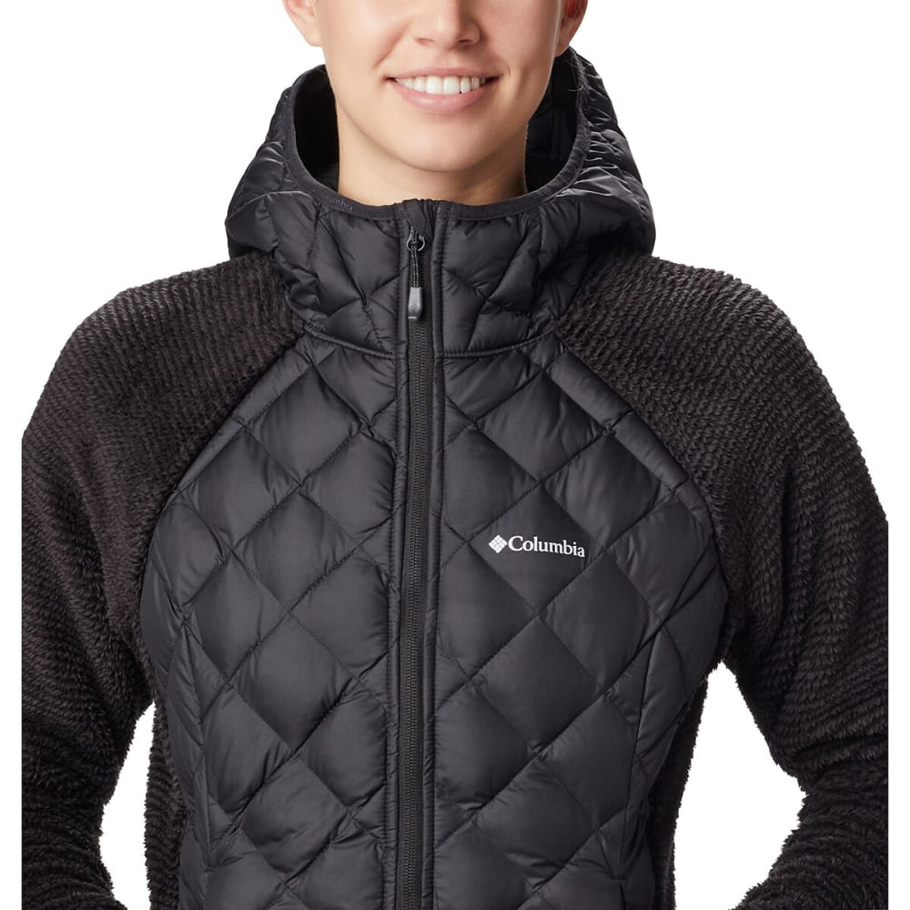 COLUMBIA Women's Techy Hybrid Fleece Jacket - BLACK 010