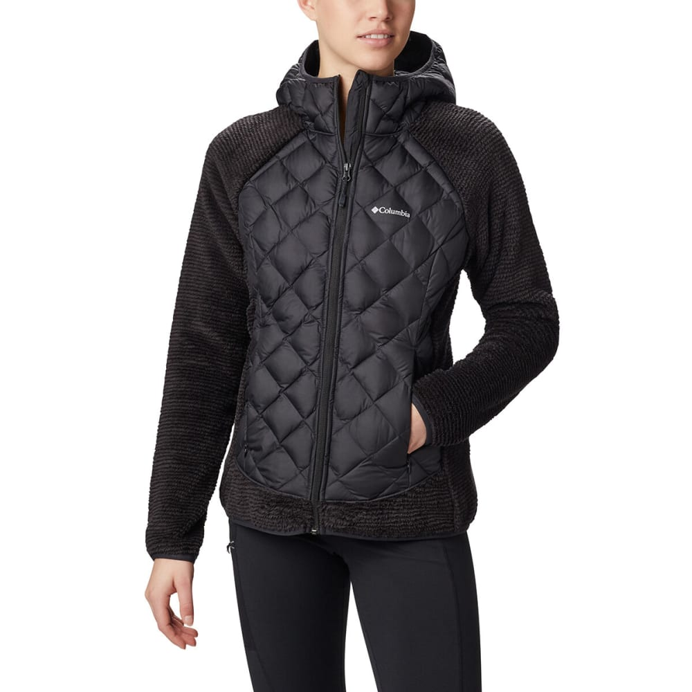 COLUMBIA Women's Techy Hybrid Fleece Jacket - BLACK 010