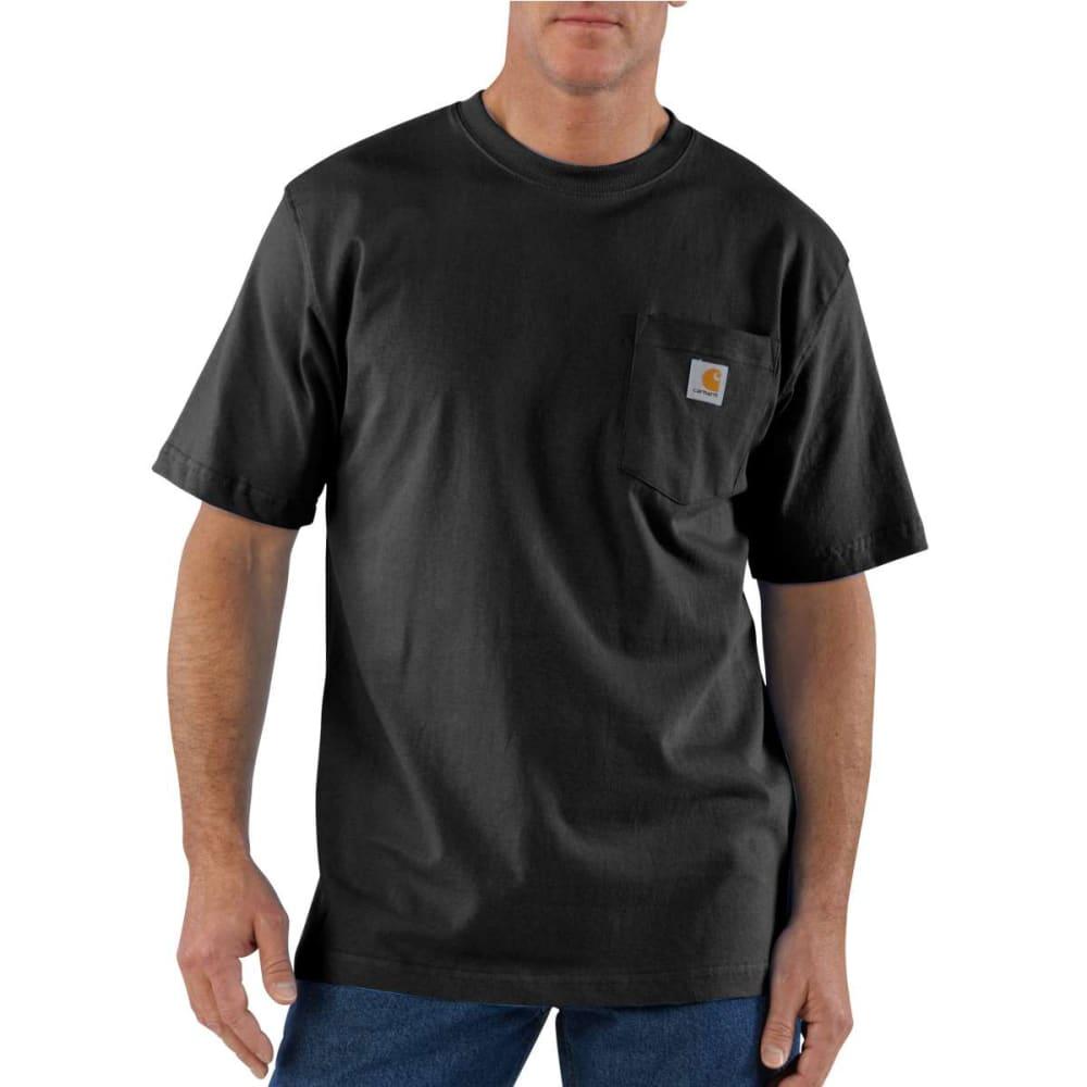 CARHARTT Men's K87 Short-Sleeve Shirt, Extended Sizes - BLACK 001