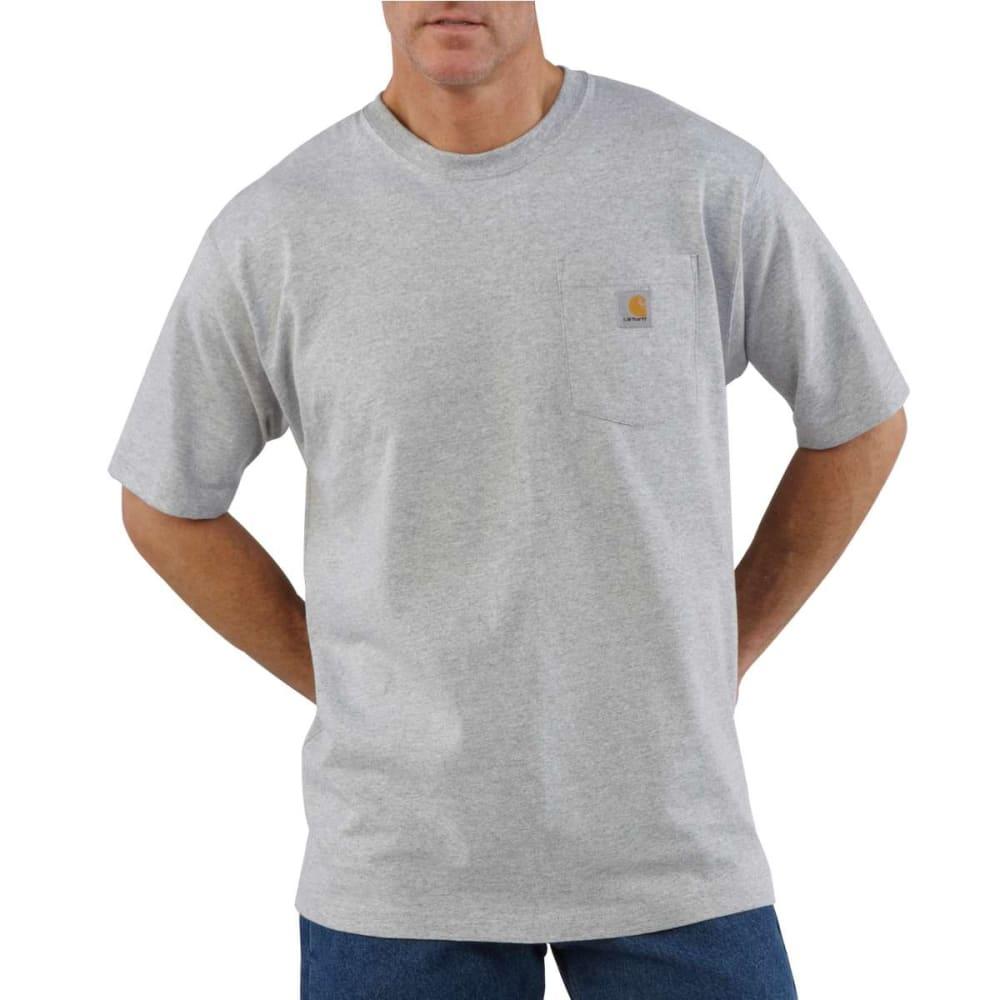 CARHARTT Men's K87 Short-Sleeve Shirt, Extended Sizes - HEATHER GREY HGY