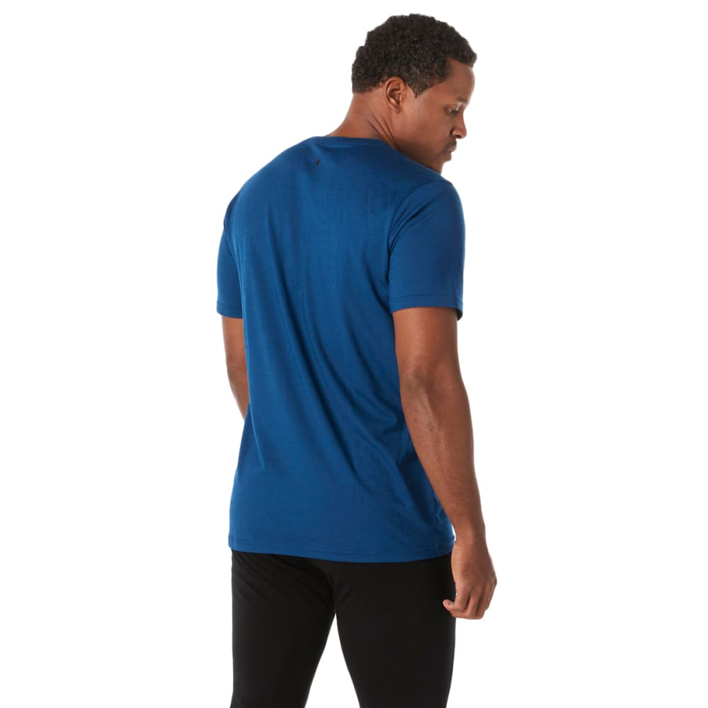 SMARTWOOL Men's Short- Sleeve Merino 150 Sport Tee - B25-ALPINE BLUE