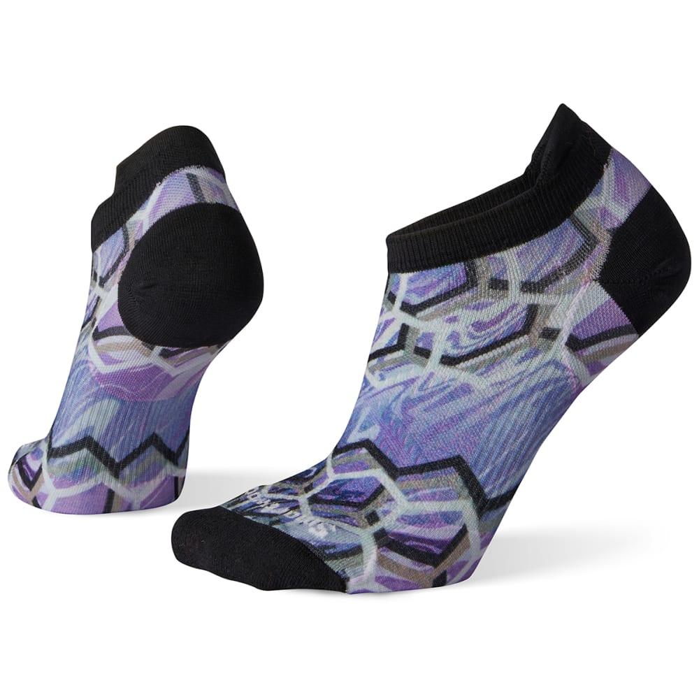 SMARTWOOL Women's PhD Run Ultra Light Hex Print Micro Socks - A26-PURPLE MIST