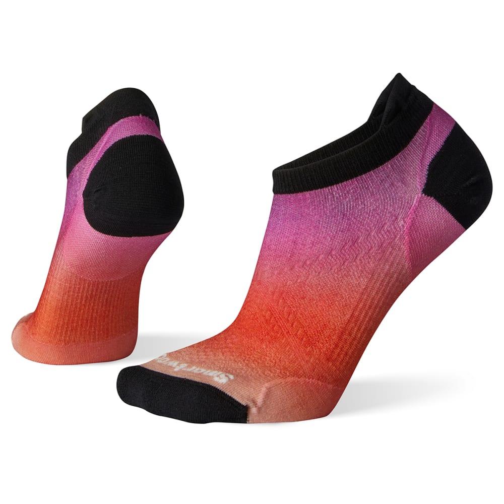 SMARTWOOL Women's Phd Run Ultra Lt Ombre Print Micro Socks - A15-HABANERO