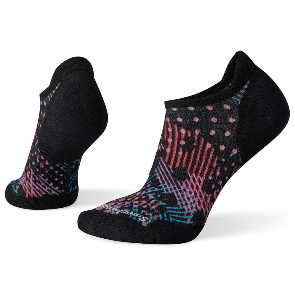 SMARTWOOL Women's PhD Run Elite Dot Print Micro Socks - 001-BLACK