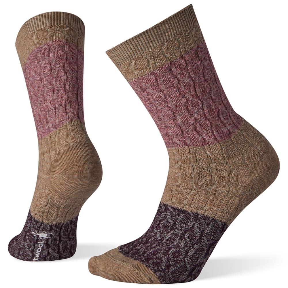 SMARTWOOL Women's Color Block Cable Crew Socks S