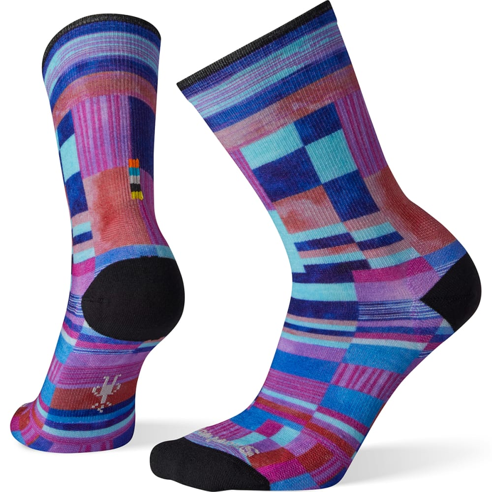 SMARTWOOL Women's Curated Patchwork Print Crew Socks - 150-multi