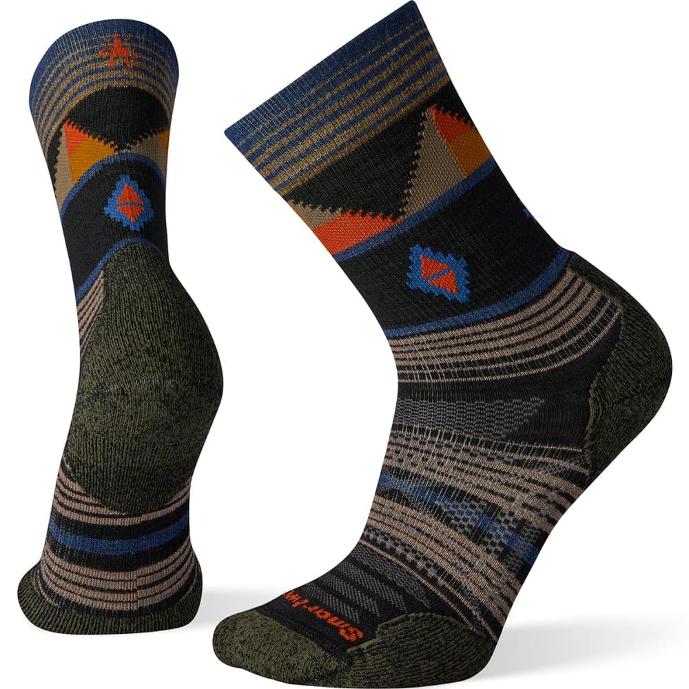 SmartWool Mens PhD Outdoor Medium Pattern Crew Socks Blue Sports