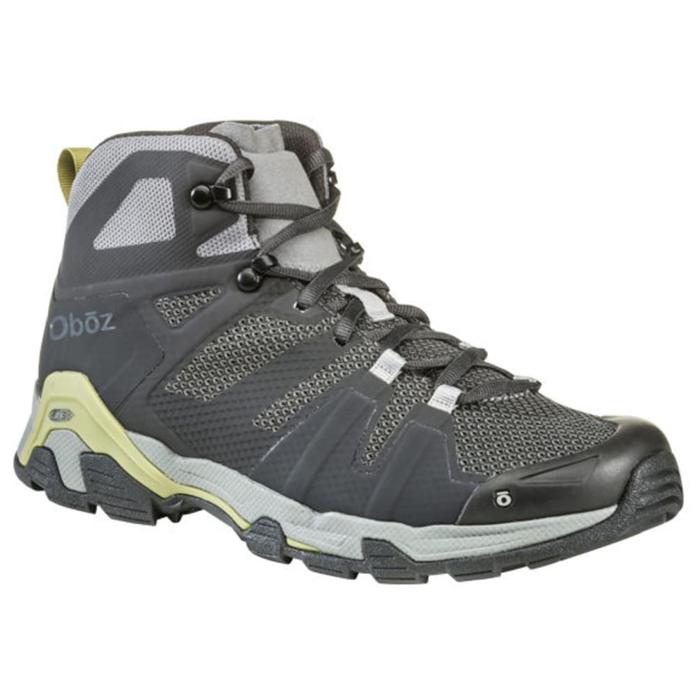 OBOZ Men's Arete Mid Hiking Boot - CHAR/WOODBINE GREEN
