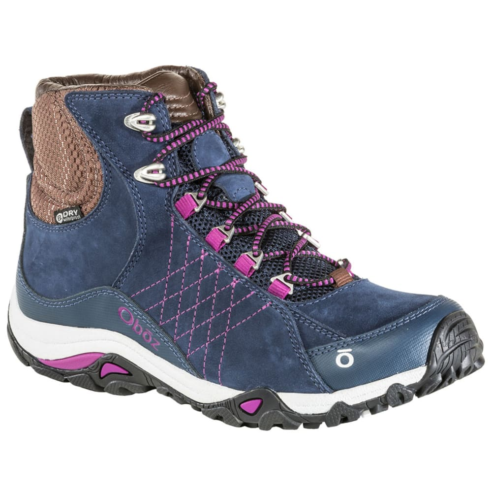 OBOZ Women's Sapphire Mid B-Dry Waterproof Hiking Boots, Wide - HUCKLEBERRY