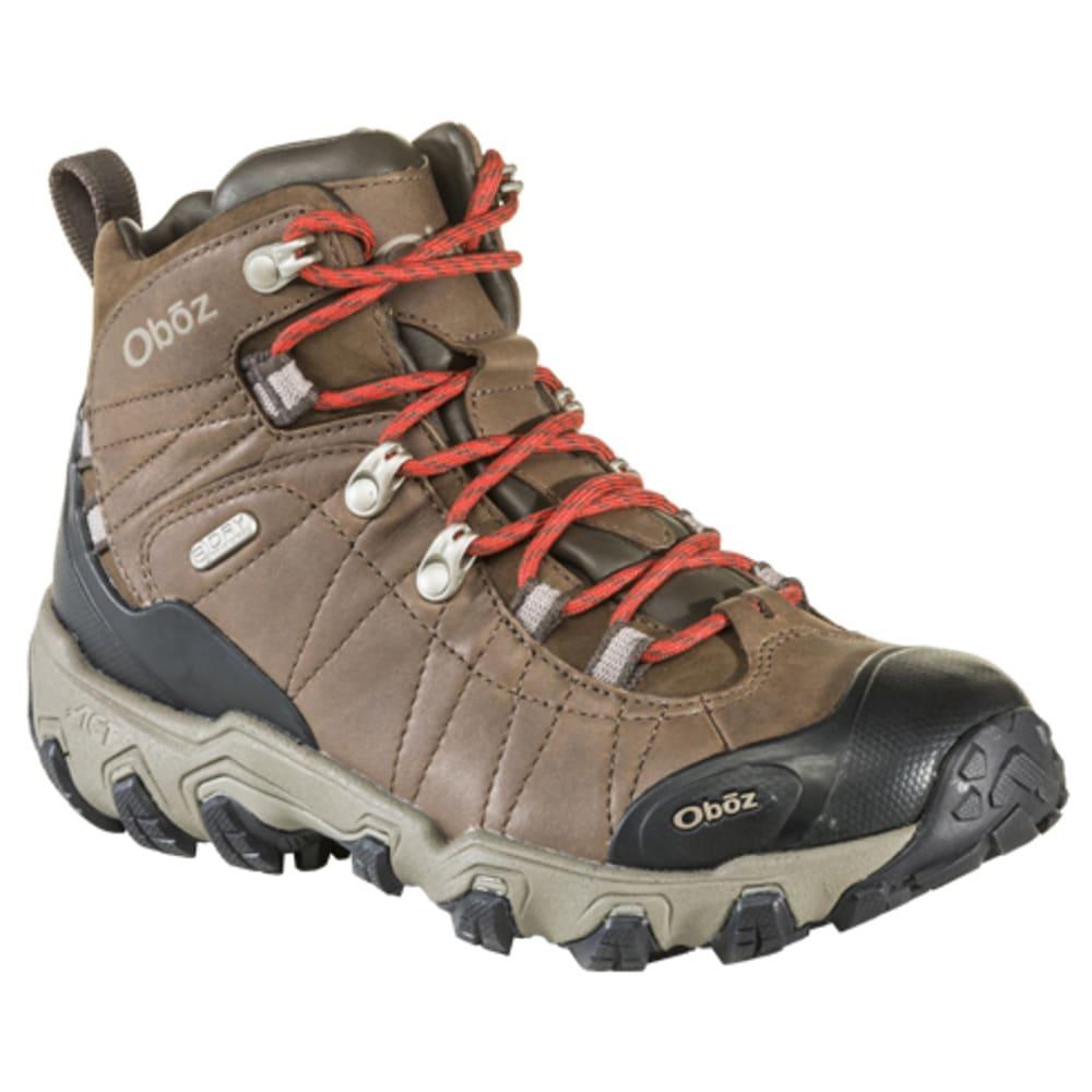 OBOZ Women's Bridger Premium Mid B-DRY Waterproof Hiking Boots - DARK OAK