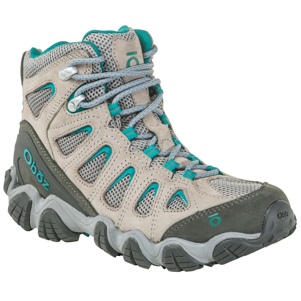 OBOZ Women's Sawtooth II Mid Hiking Boot - DRIZZLE/AQUA
