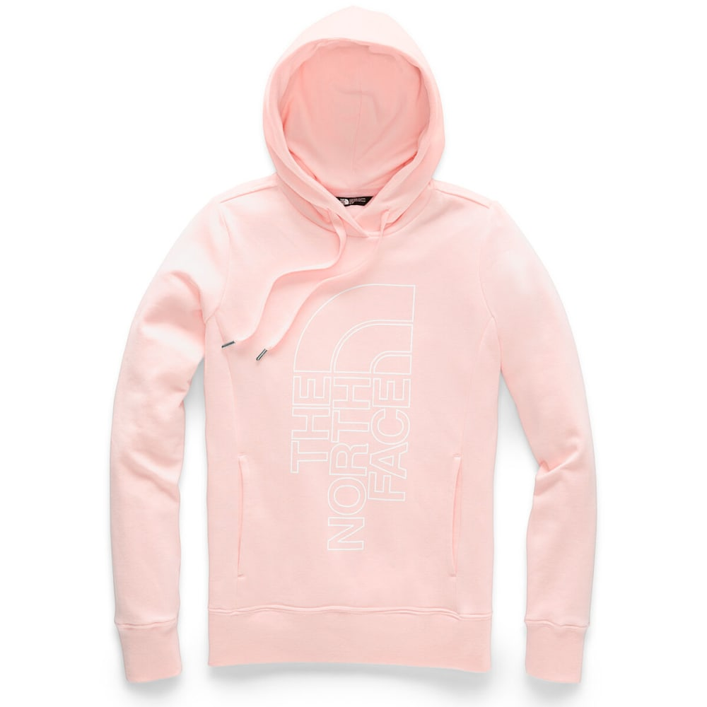 THE NORTH FACE Women's Trivert Pullover Hoodie - PINKSALT/TNF WHITE