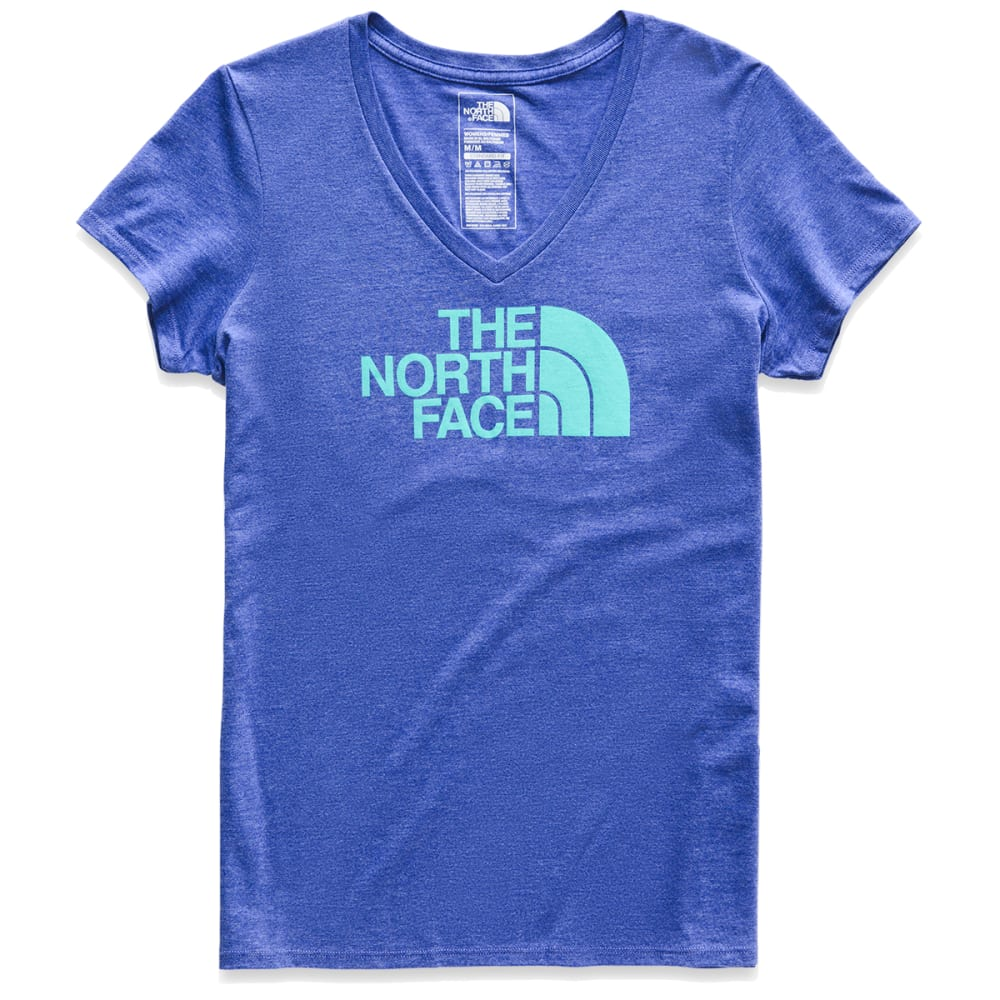 THE NORTH FACE Women's Half Dome V-Neck Short-Sleeve Tee - B38-AZTCBLHR