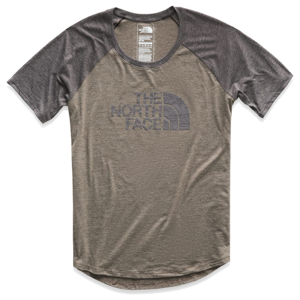 THE NORTH FACE Women's Short-Sleeve Half Dome Tri-Blend Graphic Baseball Tee XS