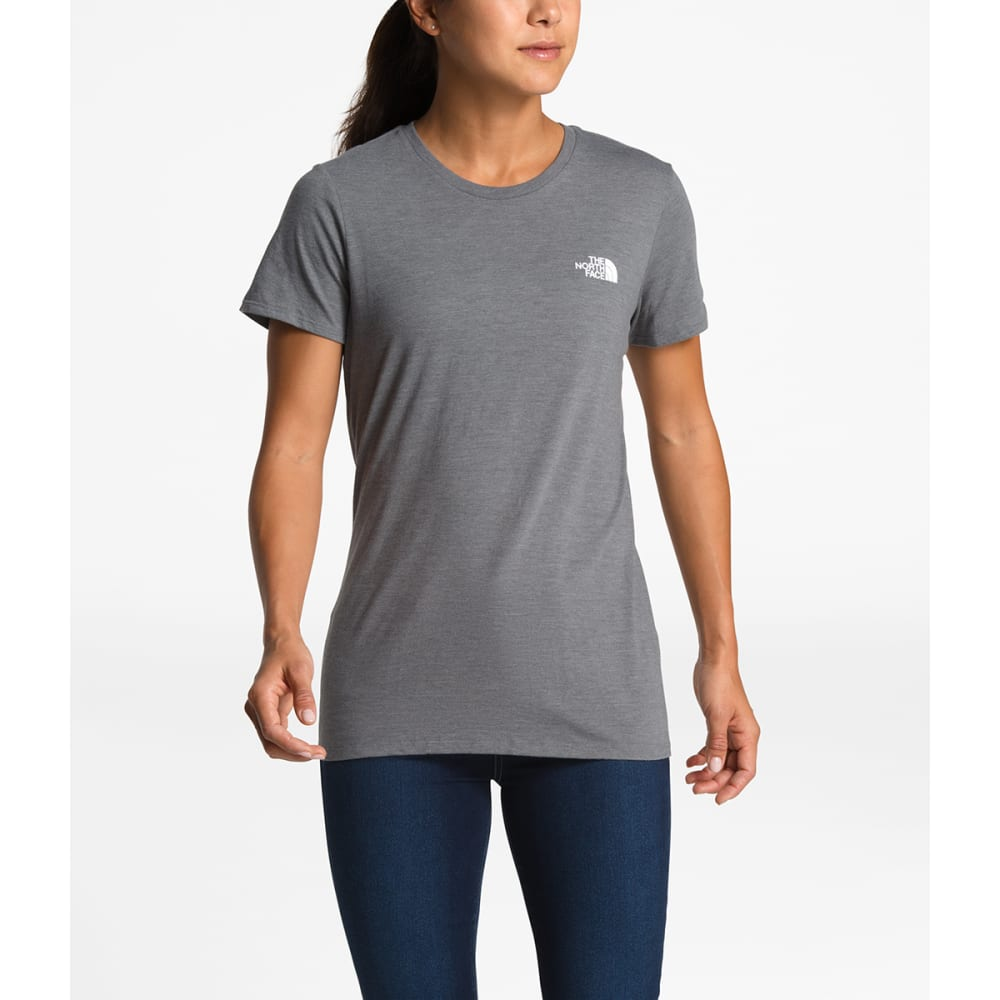 THE NORTH FACE Women's Short-Sleeve Pony Wheels Tri-Blend Tee - DYY-TNFMEDGRY