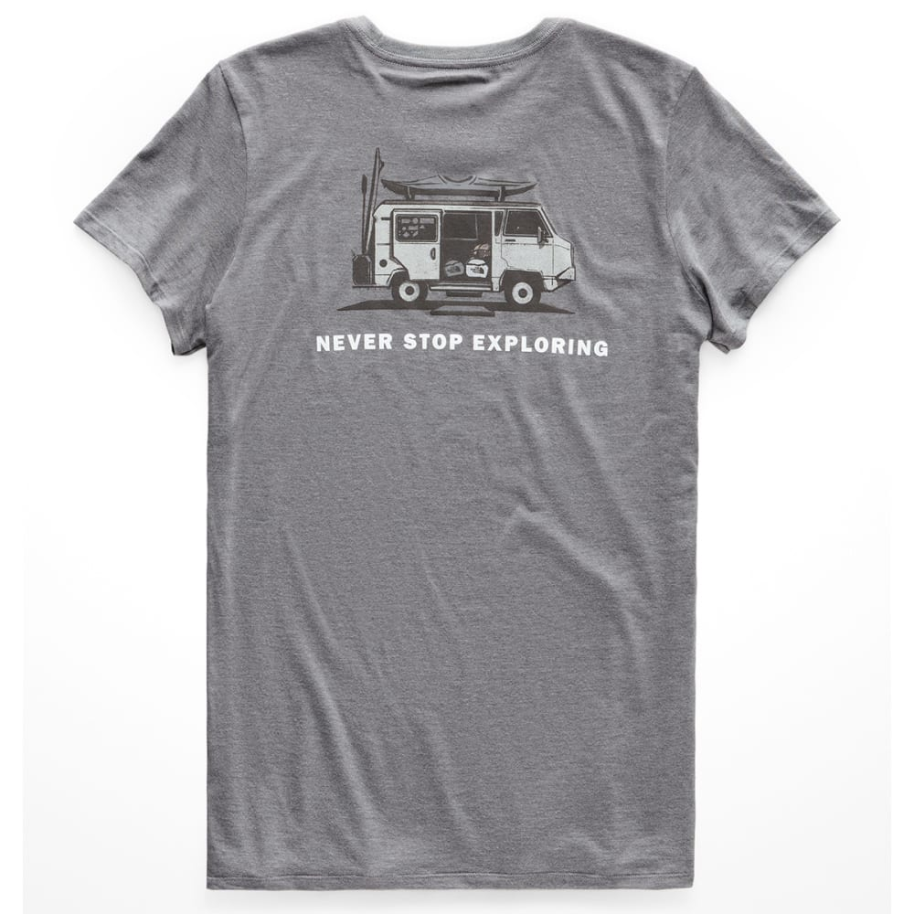 THE NORTH FACE Women's Short-Sleeve Pony Wheels Tri-Blend Tee XS