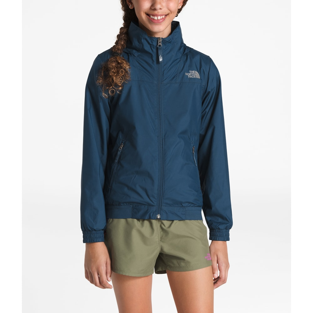 THE NORTH FACE Girls'  Windy Crest Jacket - N4L BLUE WING TEAL