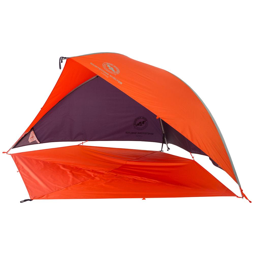 BIG AGNES Whetstone Shelter with Floor, Large - ORANGE/EGGPLANT