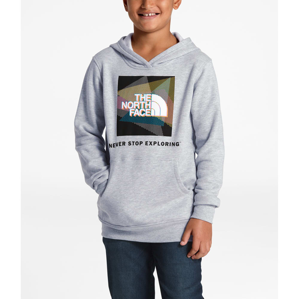 THE NORTH FACE Boys' Logowear Pullover Hoodie - VPF TNF LT GREY