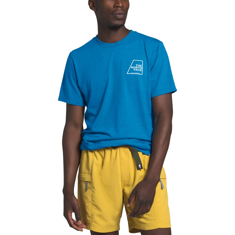 THE NORTH FACE Men's Short-Sleeve Logo Marks Graphic Tee - W1H CLEAR LAKE BLHTR
