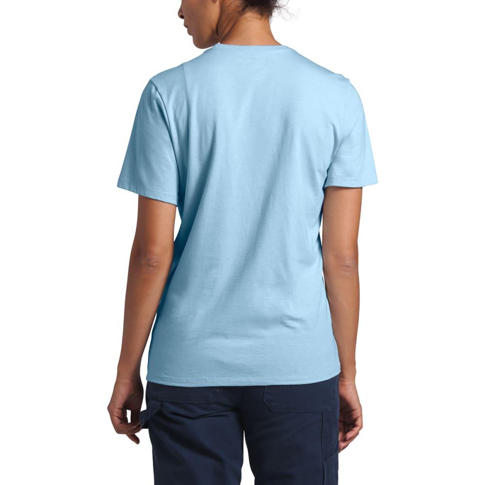 THE NORTH FACE Women's Logo Tri-Blend Short-Sleeve Tee - KL6 ANGEL FALLS BLUE