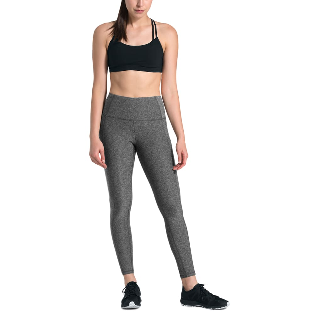 THE NORTH FACE Women's Motivation High Rise Pocket 7/8 Tights - DYZ TNF DK GREY HTR