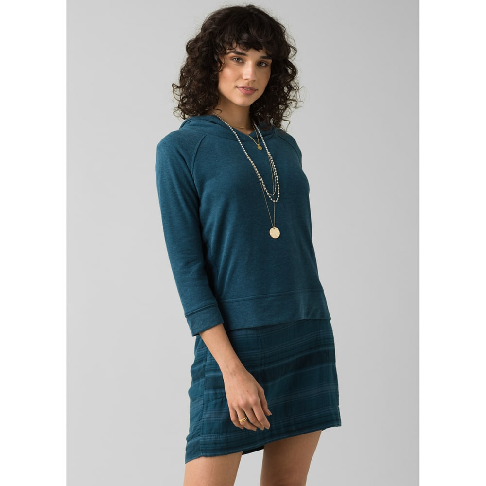 PRANA Women's Cozy Up Summer Pullover Shirt - ATLANTIC HEATHER