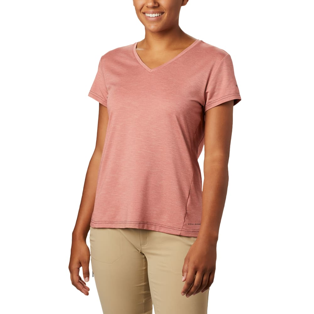 COLUMBIA Women's Bryce Short-Sleeve V-Neck Short M