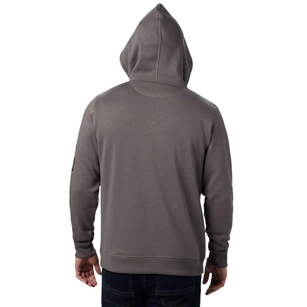 COLUMBIA Men's Full-Zip Logo Fleece Hoodie - 030 CHARCOAL BLACK
