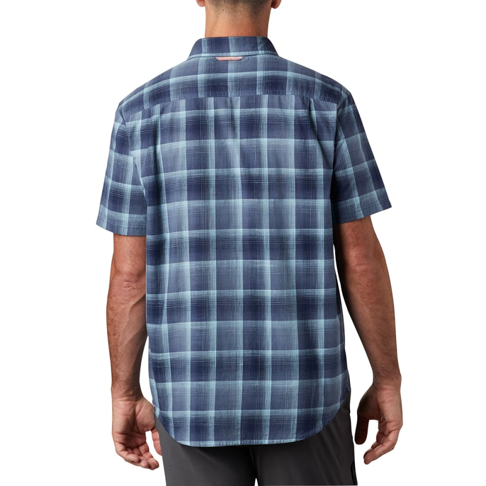 COLUMBIA Men's Short-Sleeve Leadville Ridge II Button-Down Shirt - 478 DK MYT PLAID
