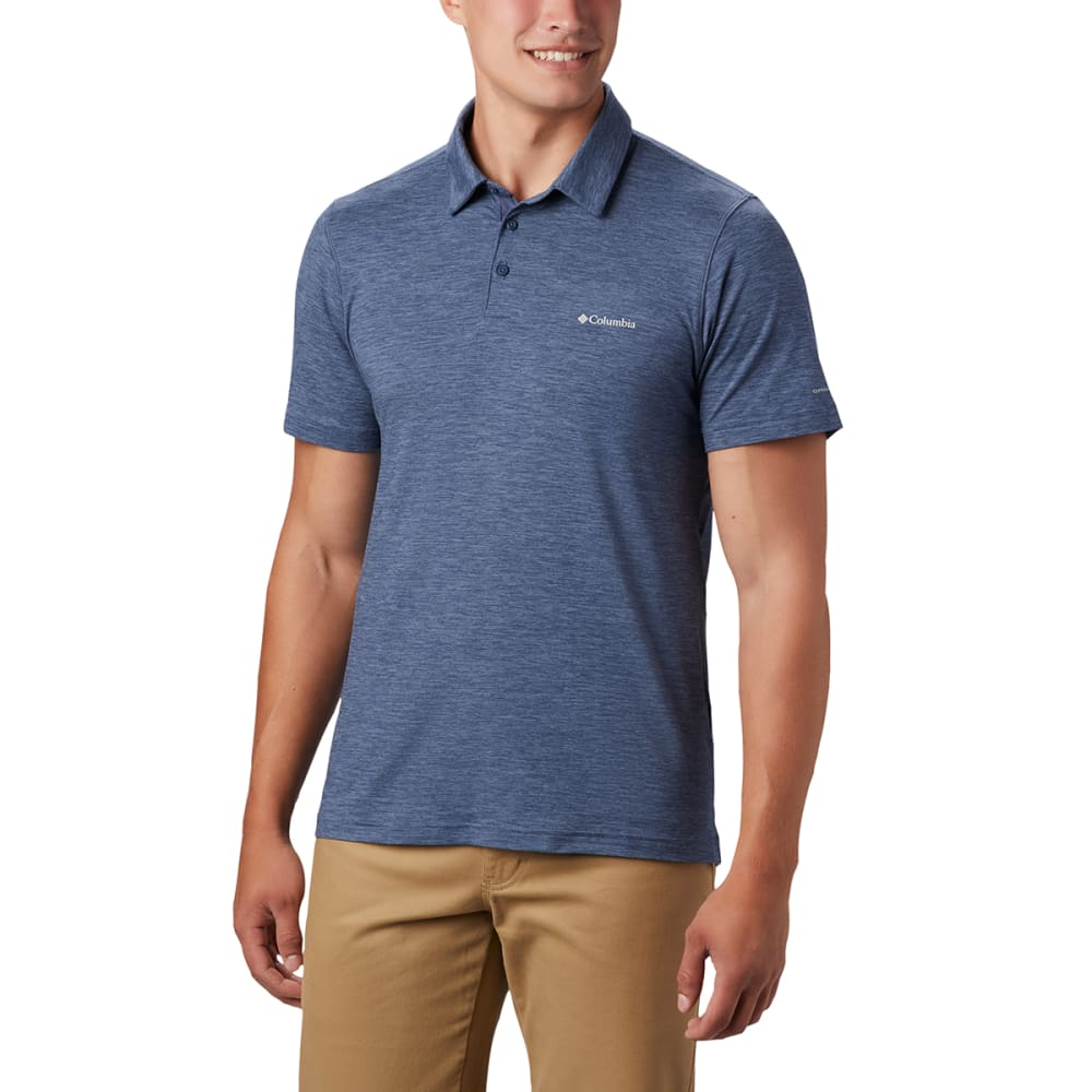 COLUMBIA Men's Tech Trail Polo Shirt - 478 DARK MOUNTAIN