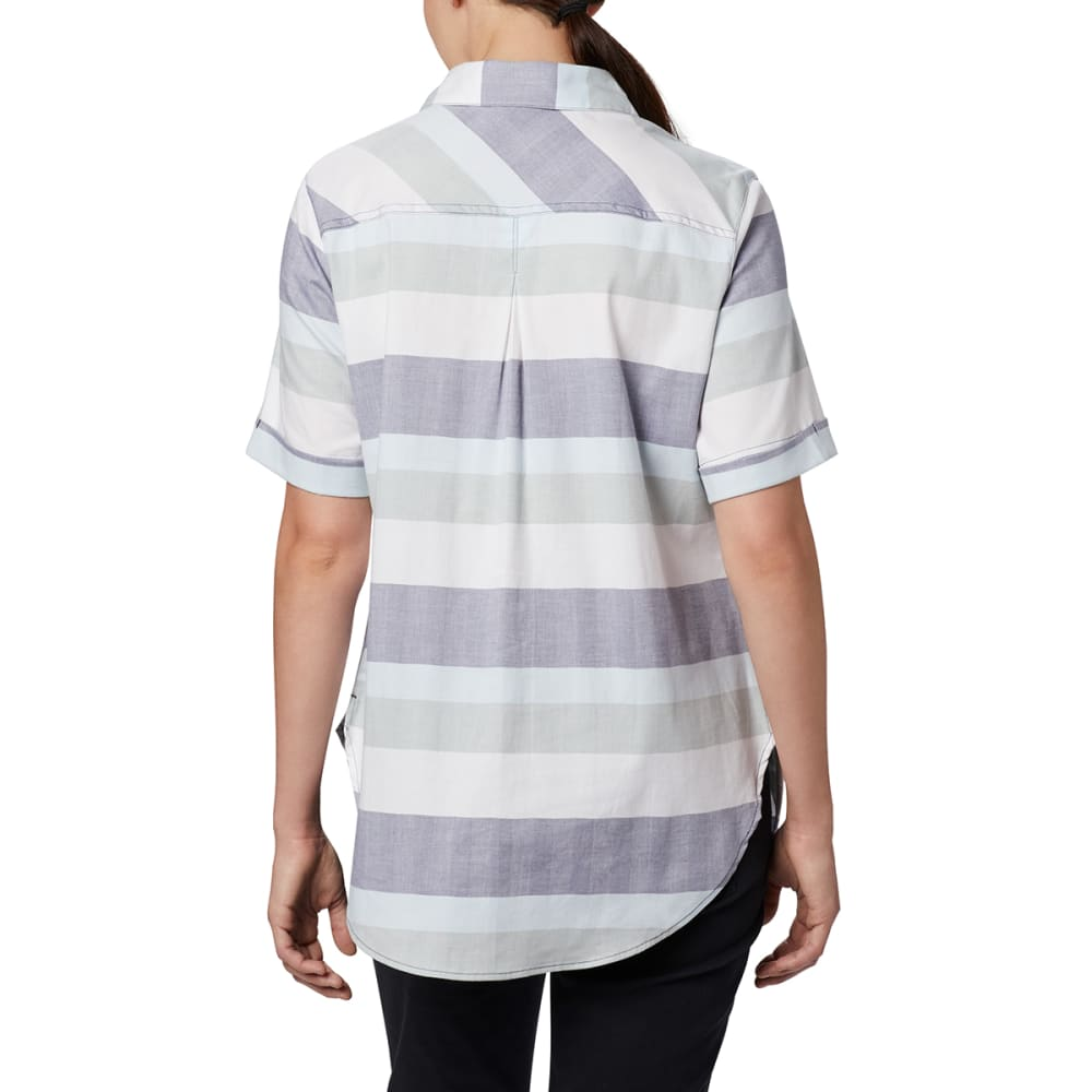 COLUMBIA Women's Short-Sleeve Anytime Casual Stretch Shirt - 467 NOCTURNAL TWILL