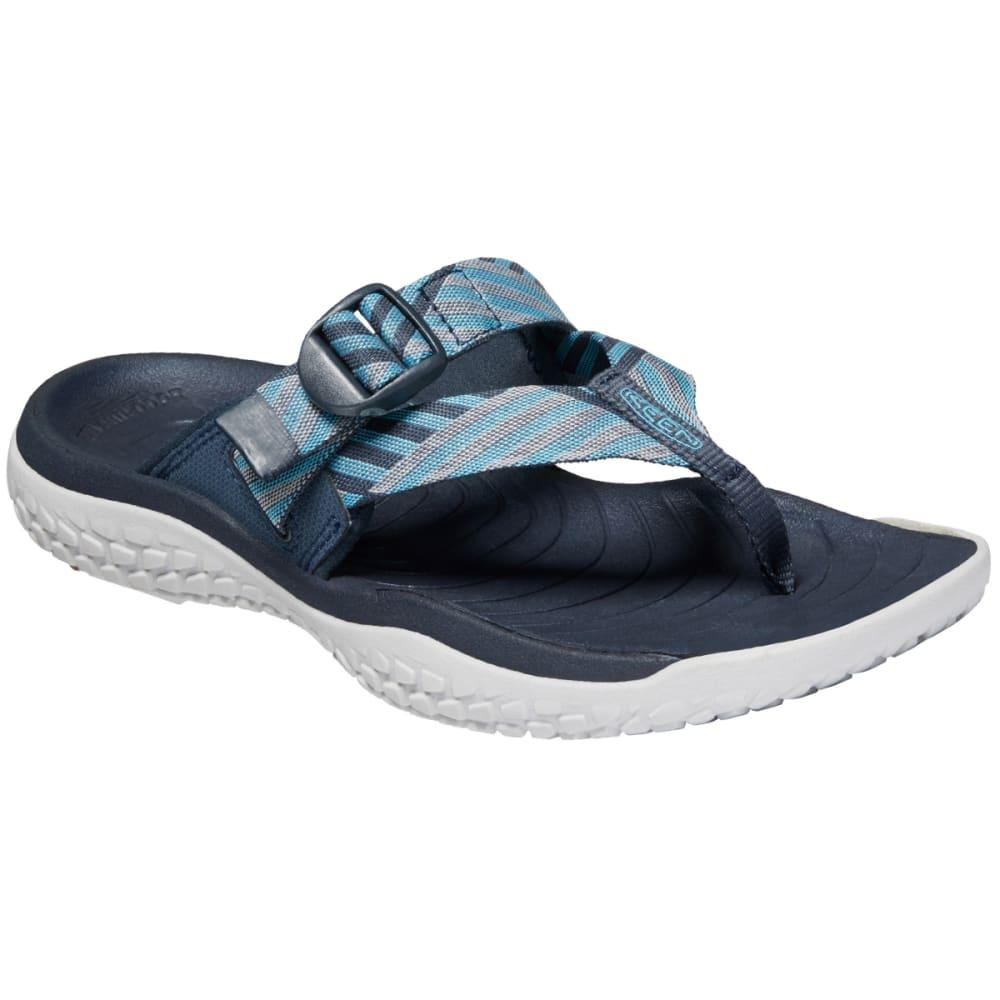 KEEN Women's SOLR Toe Post Sandals - NAVY/ BLUE MIST