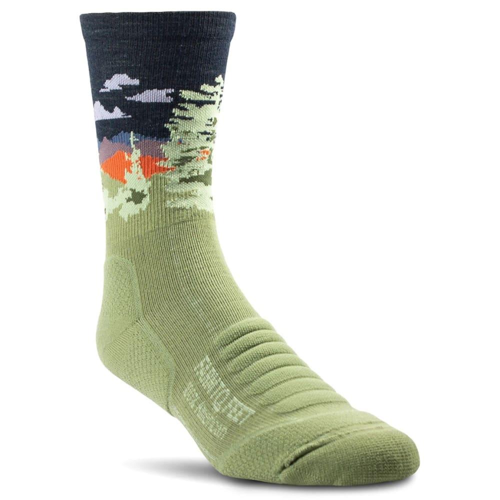 FARM TO FEET Men's Cascade Locks 3/4 Crew Socks S