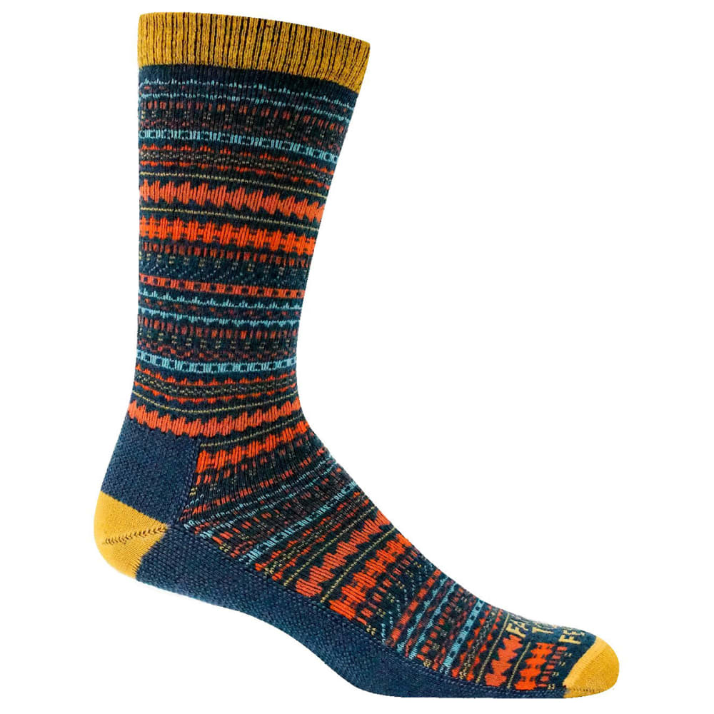 FARM TO FEET Women's Charleston Ultralight Crew Socks - DENIM BLUE-420