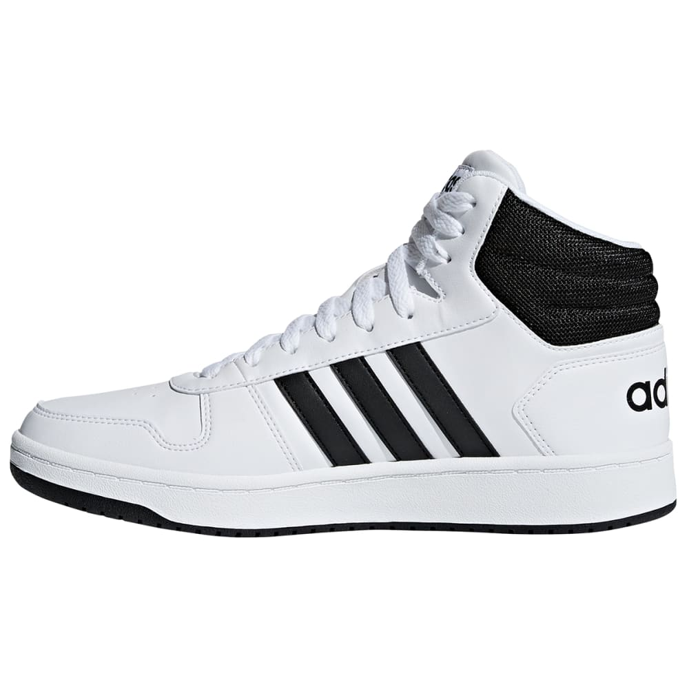 ADIDAS Men's Hoops 2.0 Mid Shoes - WHTBLK-BB7208