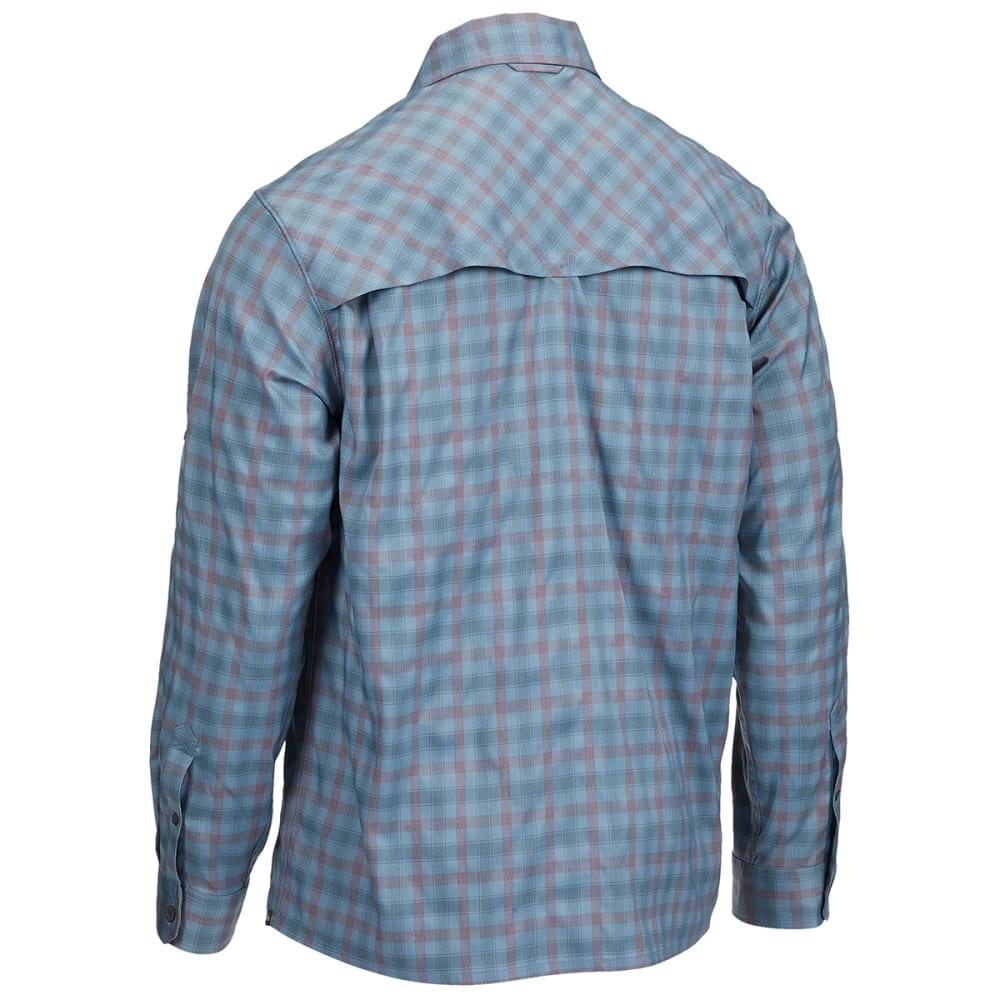 EMS Men's Journey Plaid Long-Sleeve Shirt - AEGEAN BLUE PLAID